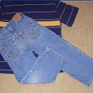 Used - Levis Jeans 4T - adjustable strap