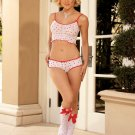 HEART PRINT CAMI SET, 4 PC SET