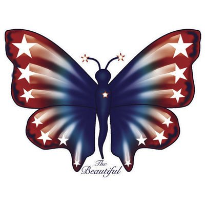 Adult Patriotic Butterfly Tshirt