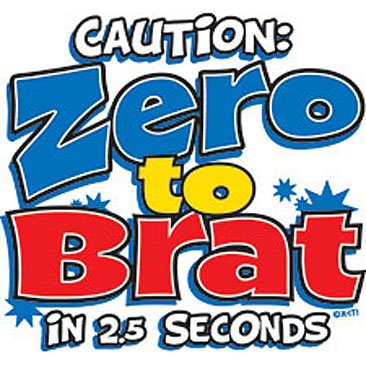 Zero to Brat in 2.5 seconds Kids Tshirt