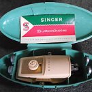 1958 SINGER Clamshell BUTTONHOLER including MANUAL (green)