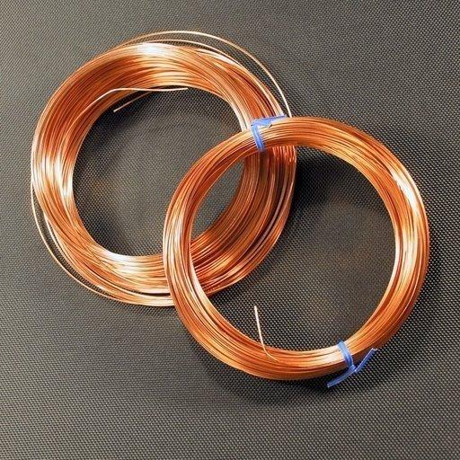 Square Copper Wire - 24 Gauge - 50 Feet