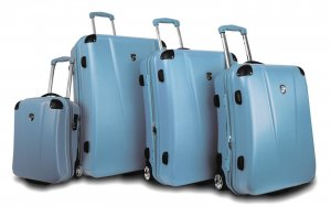 Heys USA 4 Piece Cruzer3 Luggage Set Cruzer Built in Light Blue
