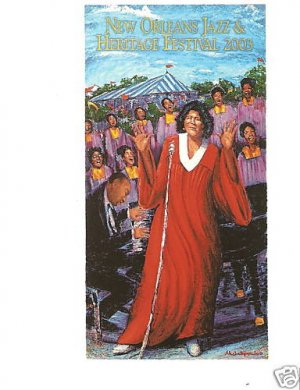 NEW ORLEANS JAZZ FESTIVAL POSTER POST CARD 03 MAHALIA