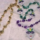 MASK PURPLE GREEN GOLD MARDI GRAS BEAD PARTY FAVORS