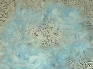 LT BLUE FEATHER BOA 6FT 6 FT  BACHELORETTE BABY SHOWER