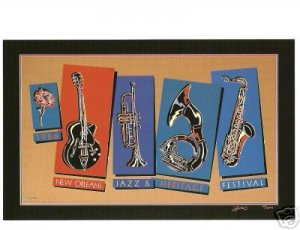 NEW ORLEANS JAZZ FESTIVAL POSTER POST CARD 1986 NEW