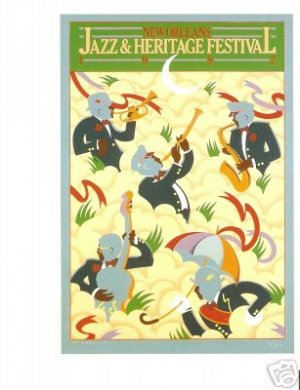 NEW ORLEANS JAZZ FESTIVAL POSTER POST CARD 1982 NEW