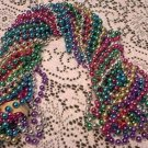"LOT ASST COLORS 48"" MARDI GRAS BEADS PARTY FAVOR NEW"