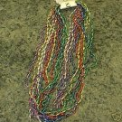 12 SEASHELL MARDI GRAS BEADS PARTY FAVORS LUAU NECKLACE