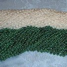 LOT 48 MARDI GRAS BEADS ST PATRICKS DAY GREEN WHITE