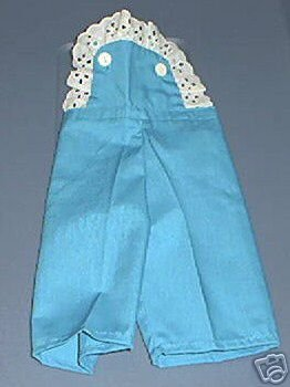 CABBAGE PATCH CLOTHES TURQUOISE OVERALLS GIRL SET NEW