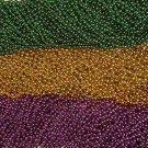 LOT 36 PURPLE GREEN GOLD MARDI GRAS BEADS PARTY FAVOR