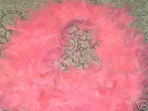 LT PINK FEATHER BOA 6FT 6 FT NEW MASQUERADE BABY SHOWER