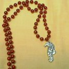 SEAHORSE 6 RED SILVER  MARDI GRAS BEADS PARTY FAVORS