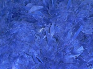 ROYAL BLUE FEATHER BOA 6FT 6 FT NEW MASQUERADE DRESS UP