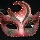 CRIMSON CRESCENT MOON VENETIAN MASK MARDI GRA HALLOWEEN