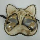 Venetian Cat Mask Black Silver Masquerade Mardi Gras