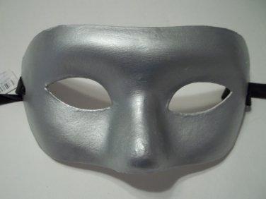 Silver Paper Mache Venetian Mask Masquerade Mardi Gras