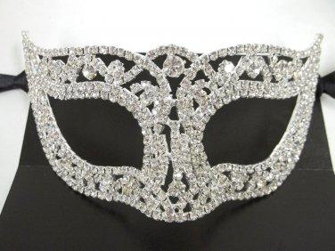 Wedding Crystal Bridal Rhinestone Laser Cut Venetian Masquerade Metal Mask Gift