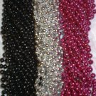144 Hot Pink Black Silver Mardi Gras Beads Party Favors Necklaces 12 Dozen Lot