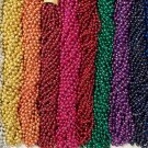 60 Choice Mardi Gras Beads Party Favors Metallic Necklaces 5 Dozen Lot