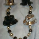 Top Hat New Years Eve Bead Mardi Gras Beads Party Favors