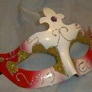 Red White Jewel Venetian Mask Mardi Gras Masquerade