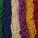 96 Asst 6 color Mardi Gras Beads Party Favors 8 Dozen