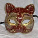 Venetian Cat Crimson Antique Masquerade Mardi Gras Mask