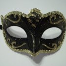 Black Gold Small Child Teen Ornate Masquerade Mardi Gras Costume Mask Prom Dance