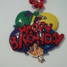 Happy Birthday Balloon Necklace Mardi Gras Beads Bead