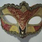 Pink Yellow Rose Venetian Masquerade Mardi Gras Small Child Mask