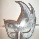 Silver White Wedding Masquerade Swan Flame Mask Mardi Gras Ball Dance Prom