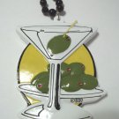 Martini Olive Glass Mardi Gras Bead Free Shipping Party Favor New Years