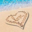 Invitations Beach Love Heart Wedding Bridal Shower Luau Party Supplies 8ct Sand