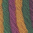"720 Asst Colors 33"" New Mardi Gras Beads Case Lot Free Shipping Metallic"