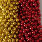 Red Gold 49er's Mardi Gras Beads Football Tailgate Party Favors 24 48 72