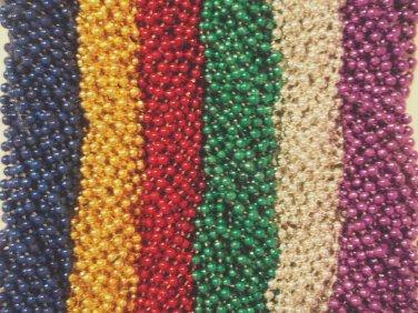 200 Asst Round Mardi Gras Gra Beads Necklaces Party Favors Huge Lot