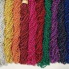 144 Choice 12 colors Mardi Gras Beads Party Favors Necklaces Metallic 12 Dozen
