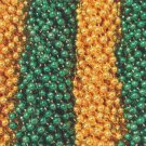 48 Green Gold Mardi Gras Beads Packers Superbowl Tailgate Football Party Favors