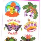 Mardi Gras Party Supplies Masquerade Carnival Temporary Tattoos Mask Tattoo