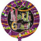 "Mardi Gras Beads Party Supplies Balloon 18"" Foil Decor"