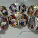Colorful Diamond Print Venetian Mardi Gras Masquerade Jewel Gem Mask Prom Dance