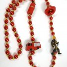 Fireman Fire Truck Hat Mardi Gras Beads Bead Party Favors