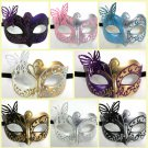 Butterfly Masquerade Mardi Gras Child Venetian Mask Black Purple White Pink Blue