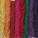 60 Mardi Gras Beads Party Favors Necklaces Round Metallic 12 Colors 5 Doz Choice