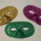 12 Glitter Half Masks Mardi Gras Masquerade Party Mask