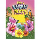 Luau Hibiscus Flower Parrot Beach Invitations 8 ct Party Supplies