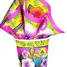Luau Hibiscus Flower Parrot Beach 9 oz Cups 8 ct Hot Cold Paper Party Supplies